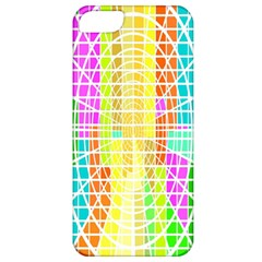 Abstract Squares Background Network Apple Iphone 5 Classic Hardshell Case