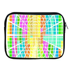 Abstract Squares Background Network Apple Ipad 2/3/4 Zipper Cases