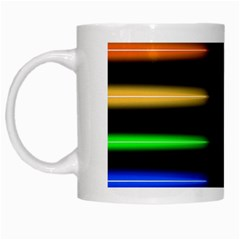 Neon Light Abstract Pattern Lines White Mugs