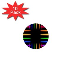 Neon Light Abstract Pattern Lines 1  Mini Magnet (10 Pack)