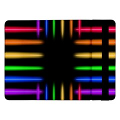 Neon Light Abstract Pattern Lines Samsung Galaxy Tab Pro 12 2  Flip Case