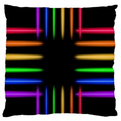 Neon Light Abstract Pattern Lines Standard Flano Cushion Case (two Sides) by Sapixe