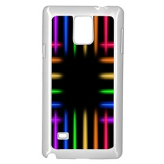 Neon Light Abstract Pattern Lines Samsung Galaxy Note 4 Case (white)