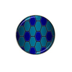 Hexagon Background Geometric Mosaic Hat Clip Ball Marker (4 Pack)