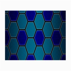 Hexagon Background Geometric Mosaic Small Glasses Cloth by Sapixe
