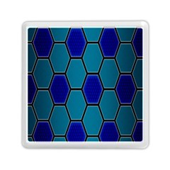 Hexagon Background Geometric Mosaic Memory Card Reader (square) by Sapixe