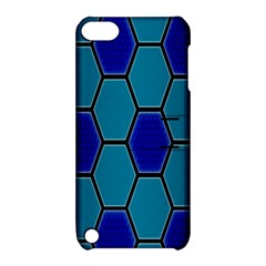 Hexagon Background Geometric Mosaic Apple Ipod Touch 5 Hardshell Case With Stand by Sapixe