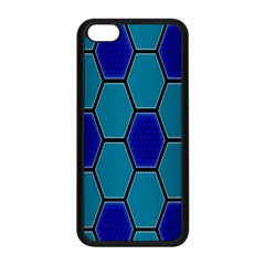 Hexagon Background Geometric Mosaic Apple Iphone 5c Seamless Case (black)