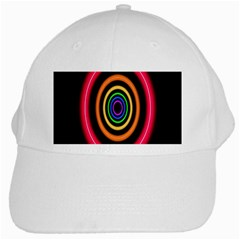 Neon Light Abstract Pattern Lines White Cap