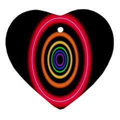 Neon Light Abstract Pattern Lines Ornament (heart)