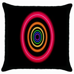 Neon Light Abstract Pattern Lines Throw Pillow Case (black)