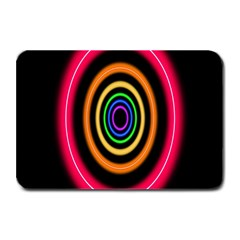 Neon Light Abstract Pattern Lines Plate Mats by Sapixe