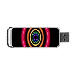 Neon Light Abstract Pattern Lines Portable Usb Flash (two Sides)