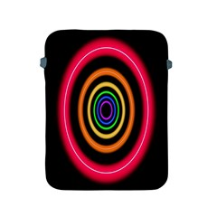 Neon Light Abstract Pattern Lines Apple Ipad 2/3/4 Protective Soft Cases by Sapixe