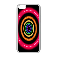 Neon Light Abstract Pattern Lines Apple Iphone 5c Seamless Case (white) by Sapixe