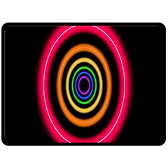 Neon Light Abstract Pattern Lines Double Sided Fleece Blanket (large)  by Sapixe