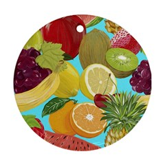 Fruit Picture Drawing Illustration Ornament (round) by Sapixe