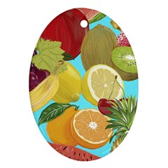 Fruit Picture Drawing Illustration Ornament (oval) by Sapixe