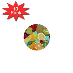 Fruit Picture Drawing Illustration 1  Mini Buttons (10 Pack)
