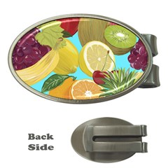 Fruit Picture Drawing Illustration Money Clips (oval)  by Sapixe