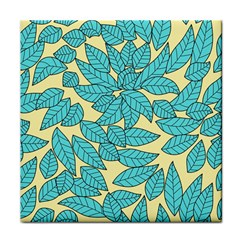 Leaves Dried Leaves Stamping Tile Coasters by Sapixe
