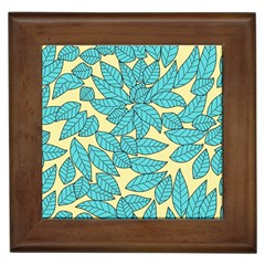Leaves Dried Leaves Stamping Framed Tiles by Sapixe