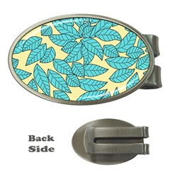 Leaves Dried Leaves Stamping Money Clips (oval)  by Sapixe