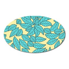 Leaves Dried Leaves Stamping Oval Magnet by Sapixe