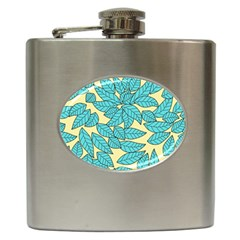 Leaves Dried Leaves Stamping Hip Flask (6 Oz)
