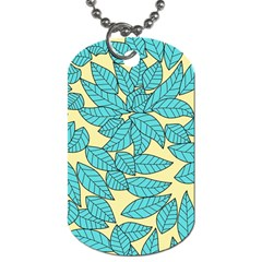Leaves Dried Leaves Stamping Dog Tag (two Sides) by Sapixe