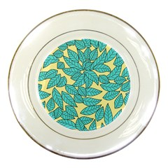 Leaves Dried Leaves Stamping Porcelain Plates by Sapixe