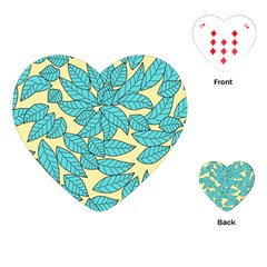 Leaves Dried Leaves Stamping Playing Cards (heart) by Sapixe