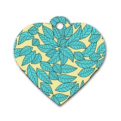 Leaves Dried Leaves Stamping Dog Tag Heart (one Side) by Sapixe