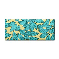 Leaves Dried Leaves Stamping Hand Towel by Sapixe