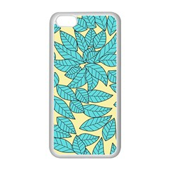 Leaves Dried Leaves Stamping Apple Iphone 5c Seamless Case (white)