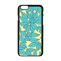 Leaves Dried Leaves Stamping Apple Iphone 6/6s Black Enamel Case by Sapixe