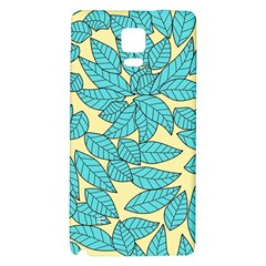 Leaves Dried Leaves Stamping Samsung Note 4 Hardshell Back Case by Sapixe