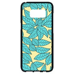 Leaves Dried Leaves Stamping Samsung Galaxy S8 Black Seamless Case by Sapixe