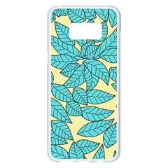 Leaves Dried Leaves Stamping Samsung Galaxy S8 Plus White Seamless Case by Sapixe