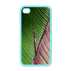 Leaf Banana Leaf Greenish Lines Apple Iphone 4 Case (color) by Sapixe