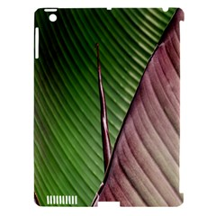 Leaf Banana Leaf Greenish Lines Apple Ipad 3/4 Hardshell Case (compatible With Smart Cover) by Sapixe