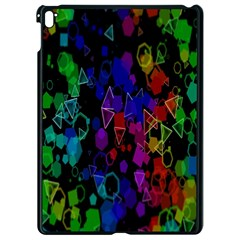 Rainbow Pattern Geometric Texture Apple Ipad Pro 9 7   Black Seamless Case