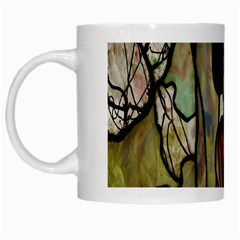 Tiffany Window Colorful Pattern White Mugs