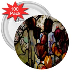 Tiffany Window Colorful Pattern 3  Buttons (100 Pack)
