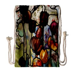 Tiffany Window Colorful Pattern Drawstring Bag (large) by Sapixe