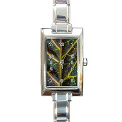 Leaf Abstract Nature Design Plant Rectangle Italian Charm Watch by Sapixe