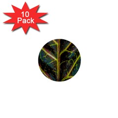 Leaf Abstract Nature Design Plant 1  Mini Buttons (10 Pack)