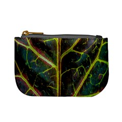Leaf Abstract Nature Design Plant Mini Coin Purse