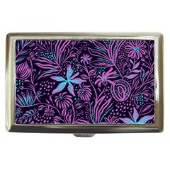 Stamping Pattern Leaves Drawing Cigarette Money Case by Sapixe
