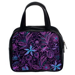 Stamping Pattern Leaves Drawing Classic Handbag (two Sides)